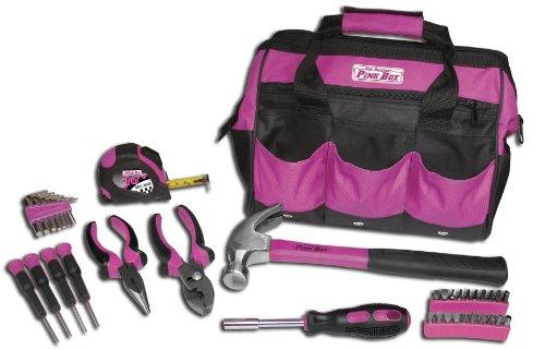 The Original Pink Box Tool Bag and 30-Piece Tool Set