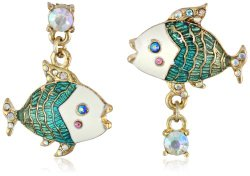 "Betsey Johnson ""Shell Shocked"" Fish  Earrings"